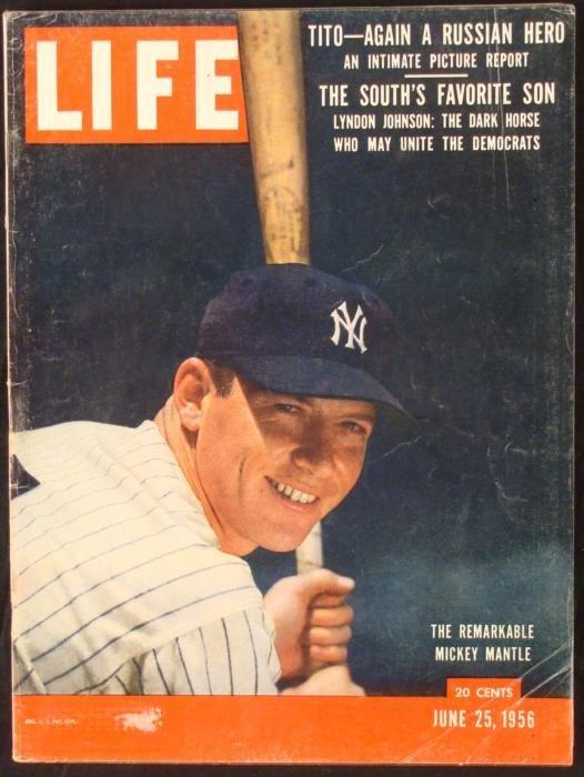 LIFE Magazine June 25, 1956 Mickey Mantle Yankees