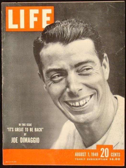 LIFE Magazine Joe DiMaggio Yankees August 1, 1949