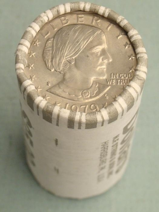 1979-S Bank Wrapper Dollar Roll Susan B. Anthony
