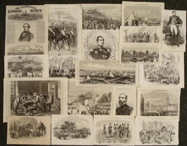 20 Military Prints Illustrated London News 1850s-60s