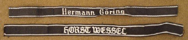 2 REPRODUCTION SS CUFF TITLES-HERMANN GORING & WESSEL