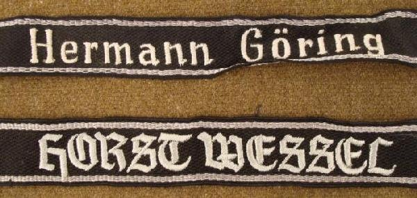 2 REPRODUCTION SS CUFF TITLES-HERMANN GORING & WESSEL - 2