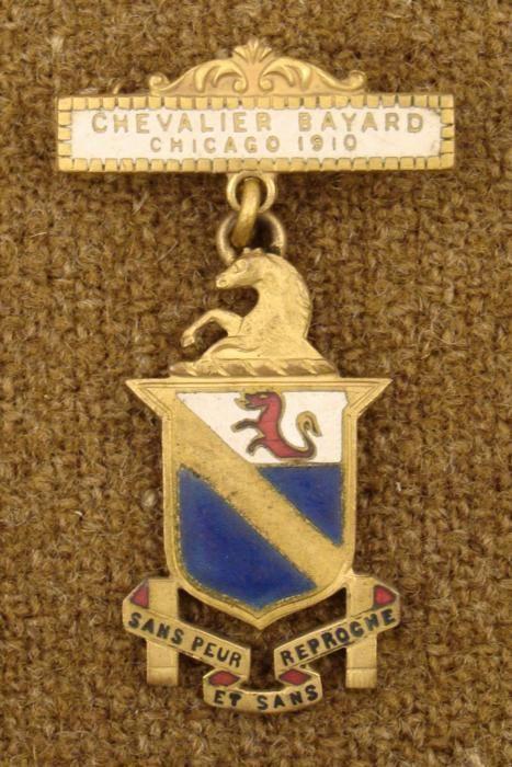 1910 ORIG KNIGHTS TEMPLAR 2 PC MEDAL-CHICAGO CHEVALIER