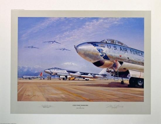 Aviation Art Cold War Warriors Young B-47 Tex Johnston