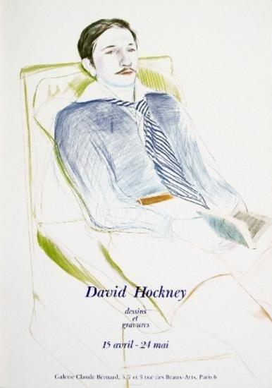 1973 Hockney Jacques de Bascher Poster