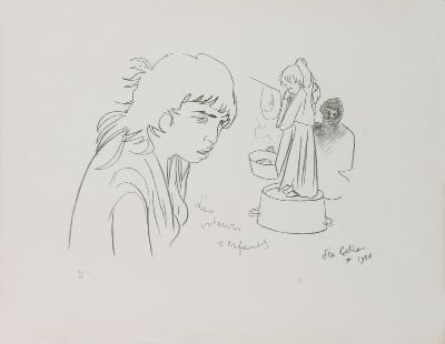 1956 Cocteau Les Voleurs DEnfants Mourlot Litho