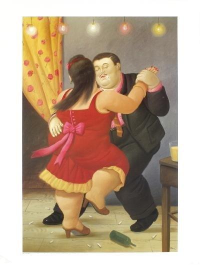 Botero Dancers Poster