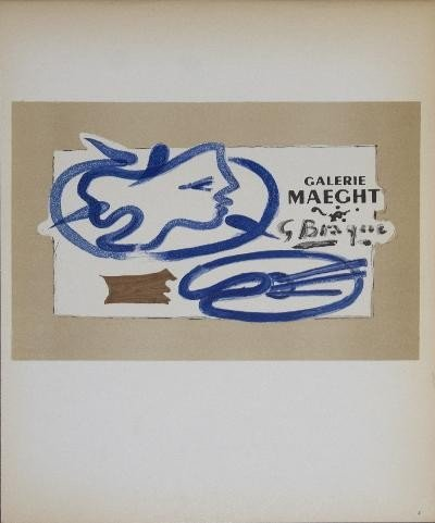 1959 Braque Galerie Maeght Mourlot Lithograph