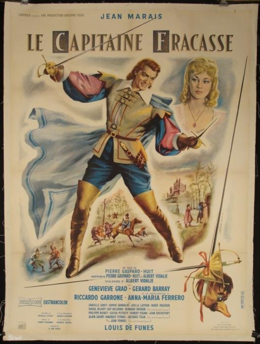 Le Capitaine Fracasse Orig Huge Movie Poster J Marais