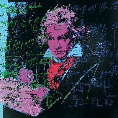 Warhol Beethoven Pink book-sm Poster