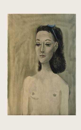6bb443ec45d Picasso Portrait of Mrs. Paul Eluard Mourlot Litho