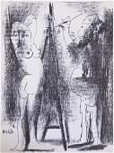 1964 Picasso Le Peintre et modele Mourlot Litho