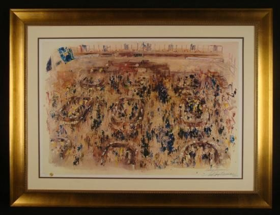 LeRoy Neiman Signed Art Print New York Stock Exchange