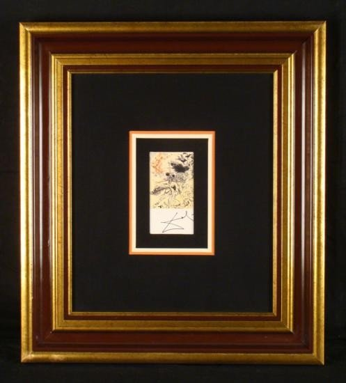 Salvador Dali Original Signed Print Horse Battle Scene