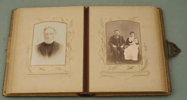 Antique Family Photo Album Cabinet Card Portraits