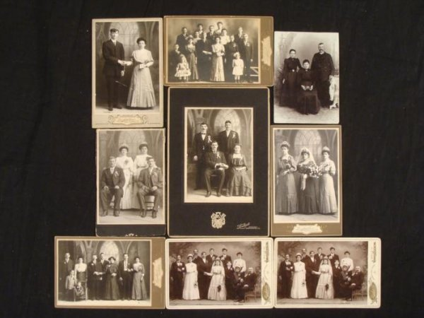 9 Antique Cabinet Card Photographs 1890s Religious