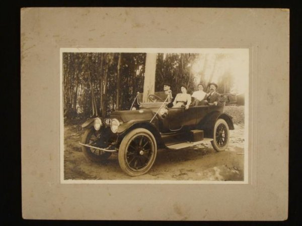 Antique Car Automobile Photograph 1918? Period Photo