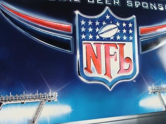 Coors Light NFL Logo Metal Tin Football Beer Bar Sign - 2