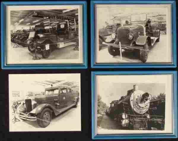 4 Antique Fire Truck, Train Museum Photos 8x10 Framed