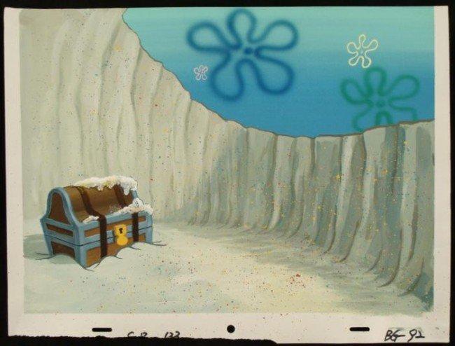 Background Original SpongeBob Animation Treasure Chest