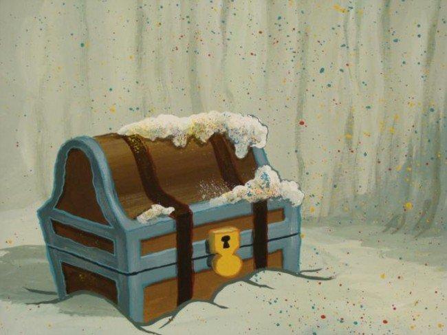 Background Original SpongeBob Animation Treasure Chest - 2