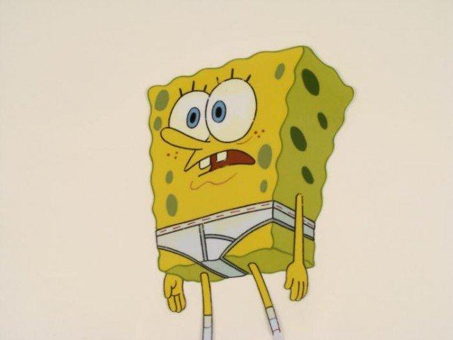Cel Original SpongeBob In Underwear Production Art - 2