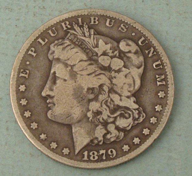 1879cc Morgan Silver Dollar Coin - Nice Detail