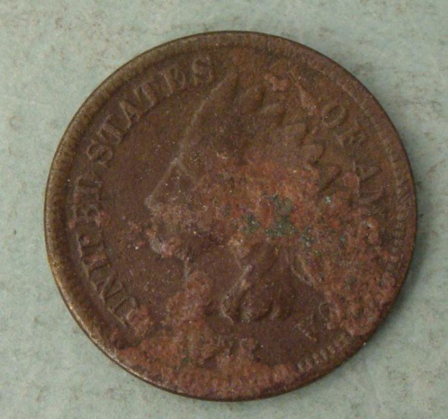 1878 Indian Cent Penny -Semi-Key Date