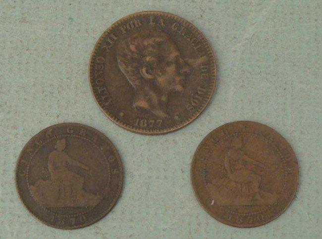Spain Hi Grade 10 Centisimos 1877-Rare 5 Centavos 1870