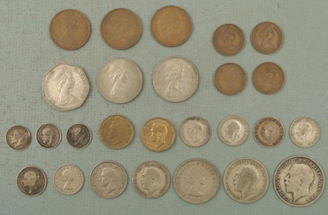 Large Lot 26 Great Britain Coins Mixed 1920-1975