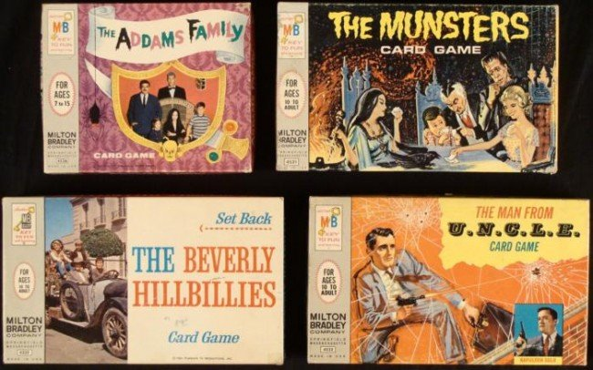 4 Vintage TV Card Games: Addams Family, Munsters . . .