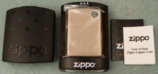 Zippo Copper Case Lighter New Mint MIB