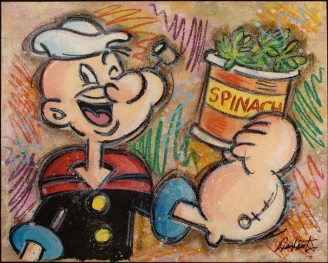 Duerrstein Original Painting Popeye Yam What I Yam