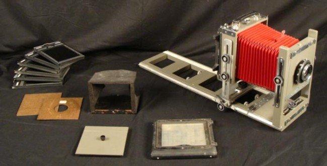 Burke & James Large Format 4x5 Camera w/Rails, Holders