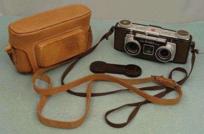 Kodak Stereo Camera w/Lens Cap, Case 1950