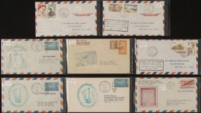 8 First Flight Covers Lot Europe, Middle East, Africa
