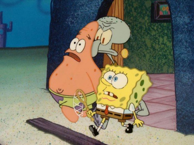 Original Production Get Out Background Spongebob Cel - 2