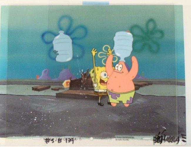 Spongebob Original Cel Background Jug Head Animation