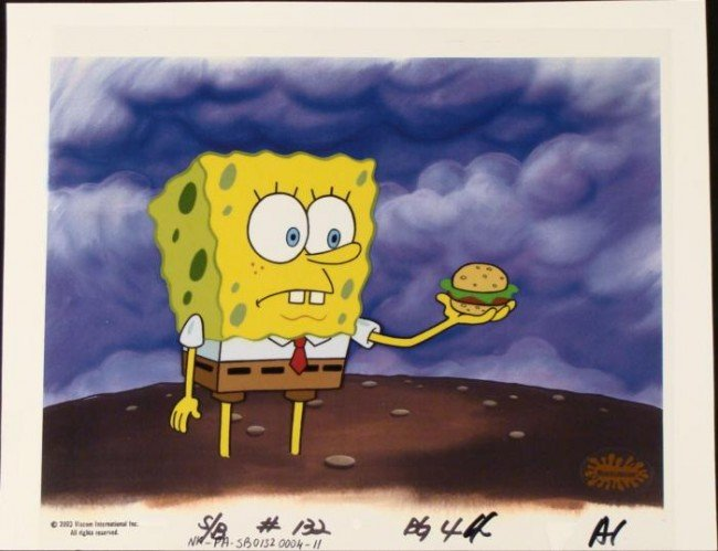 Background Spongebob Animation What to Do Original Cel