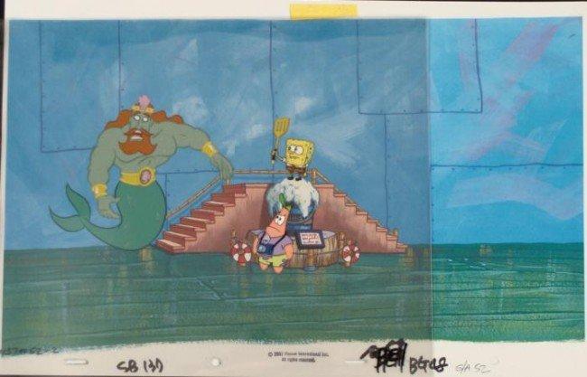 Confused Cel Original Spongebob Production Background