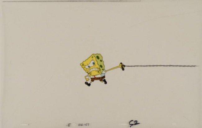 Production Are You Kidding Me Original Spongebob Cel