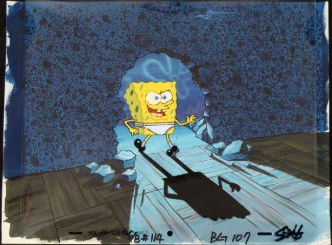 Original Background See Ya Spongebob Cel Animation
