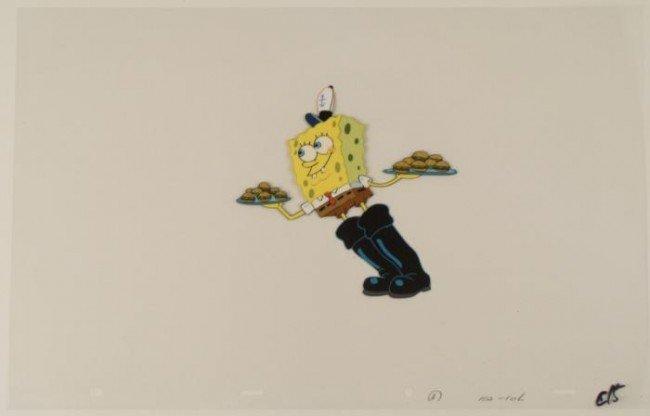 Spongebob Squeaky Boots Original Production Cel Art