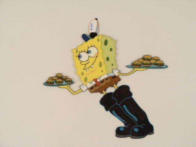 Spongebob Squeaky Boots Original Production Cel Art - 2