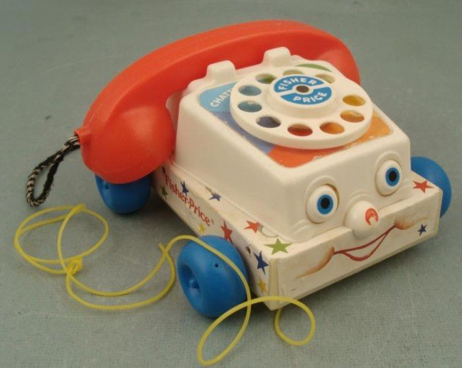 1985 Vintage Fisher Price Telephone Chatter Phone
