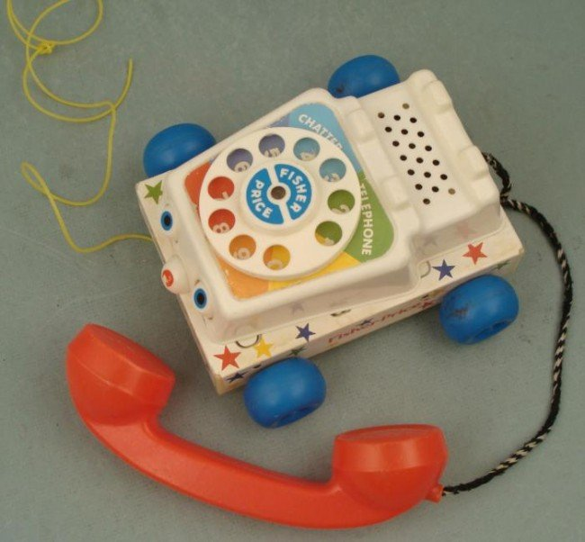1985 Vintage Fisher Price Telephone Chatter Phone - 2