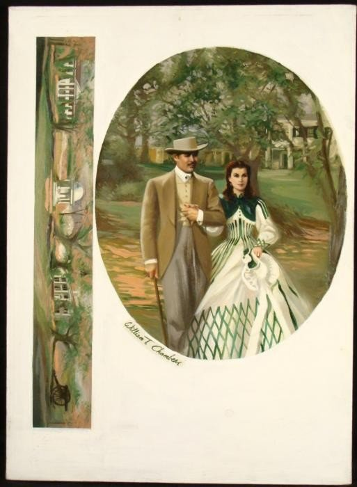 Wiliam Chambers Original Gone With The Wind Painting