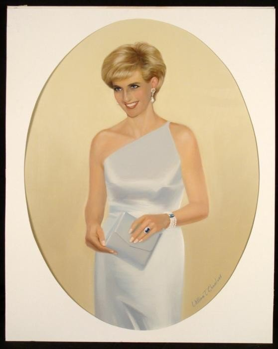 William Chambers Original Art Lady Diana Painting