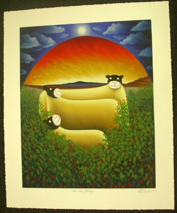 Mackenzie Thorpe We Are Family Serigraph