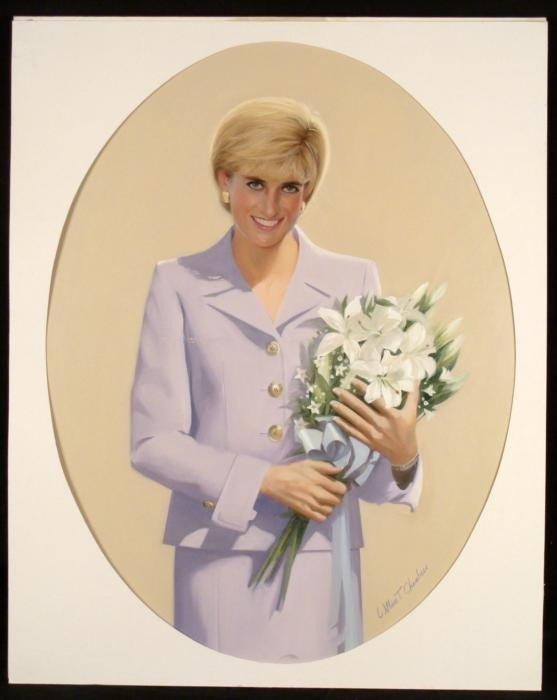 William Chambers Original Princess Diana Art Painting